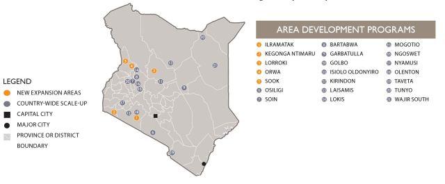 The Kenya Map
